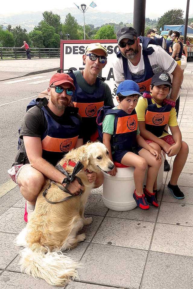 descenso del Sella con perros en Asturias
