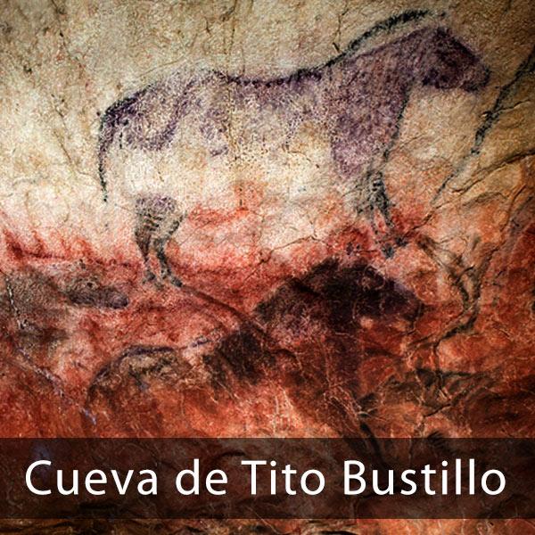 Pinturas en el interior de la cueva de Tito Bustillos